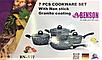 Набор посуды Benson BN-577 с гранитным антипригарным покрытием (7 пр.)   казан, кастрюля с крышкой, сковорода, фото 5