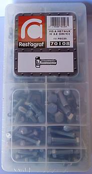 Набір болтів DIN 933 8.8 Шестигранна головка Цинк (70108)