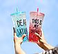 Стакан поликарбонатный охлаждающий с трубочкой ICE CUP Benson BN-284 голубой   бутылочка со льдом Бенсон, фото 6