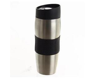 Термокружка металлическая с поилкой Benson BN-40 черная (380 мл)   термостакан из нержавеющей стали  