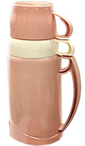 Термос вакуумный пластиковый Benson BN-061 (1.8 л) с двумя чашками и стеклянной колбой Бенсон, термокружка
