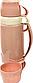Термос вакуумный пластиковый Benson BN-061 (1.8 л) с двумя чашками и стеклянной колбой Бенсон, термокружка, фото 4