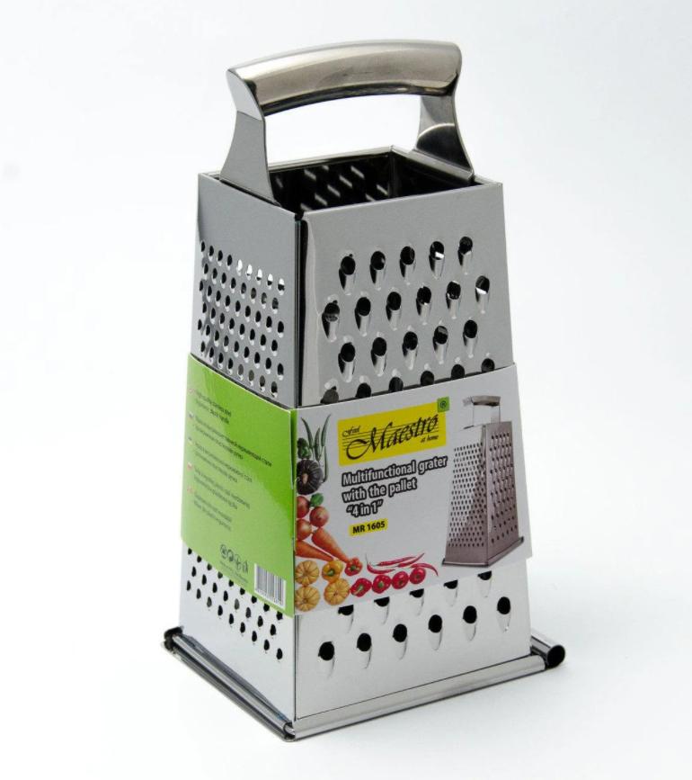 Терка з нержавіючої сталі 4 сторони Maestro MR-1605   шинкування Маестро   кухонні терка з нержавіючої сталі