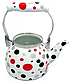 Емальований чайник з рухомою ручкою Benson BN-124 білий горошок (1,5 л)   чайник Бенсон, Бэнсон, фото 8