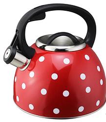 Чайник зі свистком з нержавіючої сталі Benson BN-706 (3 л), нейлонова ручка, індукція | свистить чайник