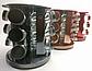Набір банок для спецій і приправ Benson BN-142-9 з 12 судин на підставці сірий   спецовник 12 шт Бенсон, фото 9