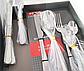 Столовий набір Benson BN-456 (24 предмета) | набір столових приладів Бенсон | ложки та виделки Бэнсон, фото 3