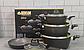 Набір посуду Benson BN-344 (7 тощо) з мармуровим покриттям   каструля з кришкою, сковорода Бенсон, каструлі, фото 7