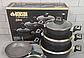 Набір посуду Benson BN-344 (7 тощо) з мармуровим покриттям   каструля з кришкою, сковорода Бенсон, каструлі, фото 8