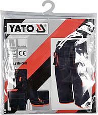Рабочие штаны короткие YATO YT-80947 размер XL, фото 3