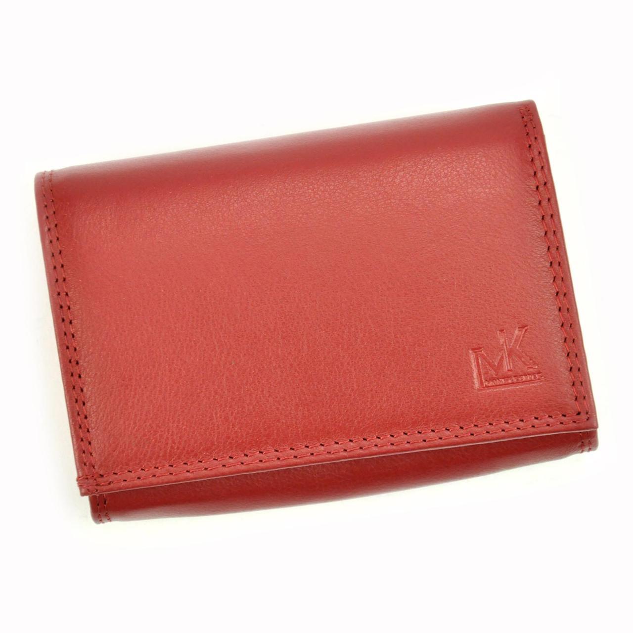 Жіночий шкіряний гаманець Money Kepper 12145 RFID Червоний