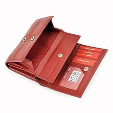 Жіночий шкіряний гаманець Money Kepper 12145 RFID Червоний, фото 2