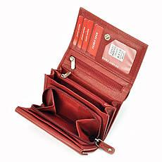 Жіночий шкіряний гаманець Money Kepper 12145 RFID Червоний, фото 3