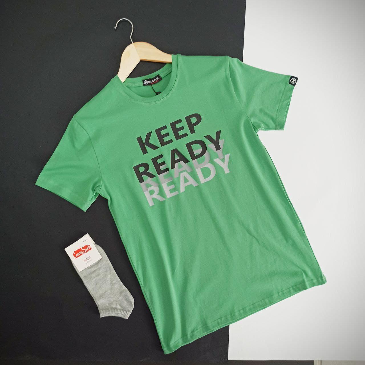 Чоловіча футболка з логотипом Keep / Молодіжна футболка зелена