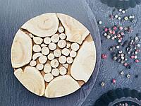 Дерев'яна підставка під гаряче з ялівцю, 17,5 см, фото 1