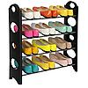Полиця для взуття органайзер Amazing Stackable Shoe Rack, 4 полки, на 12 пар