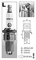 Свеча зажигания BRISK Extra LR17TC Aveo,Matiz (упаковка)