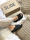 Мужские тапочки Adidas Yeezy Slide Black, фото 6