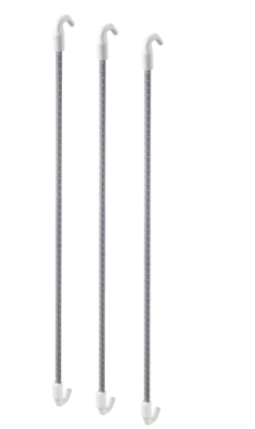 ИКЕА SKÅDIS СКОДИС (403.216.31) Эластичный шнур, серый 3 шт.