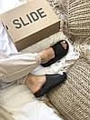 Жіночі тапочки Adidas Yeezy Slide Black, фото 8