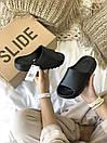 Жіночі тапочки Adidas Yeezy Slide Black, фото 5