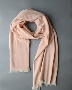 Шарф из беби кашемира из коллекции Super Soft розово - персикового цвета