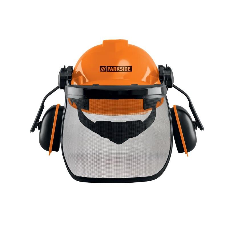 Защитный шлем, каска с наушниками и защитой глаз Parkside