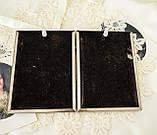 Старая английская фоторамка на два фото, парная рамка, посеребренный металл, Англия, винтаж, фото 7