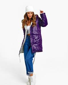 Куртки ISSA PLUS SA-31 S/M фиолетовый/бежевый