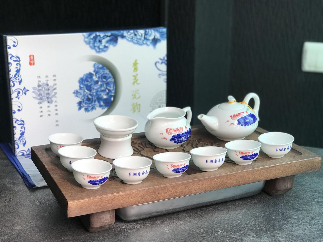 Порцеляновий набір посуду з Дехуа «Китайський стиль»