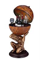 Глобус бар напольный Atlas - коричневый 42016R-GR