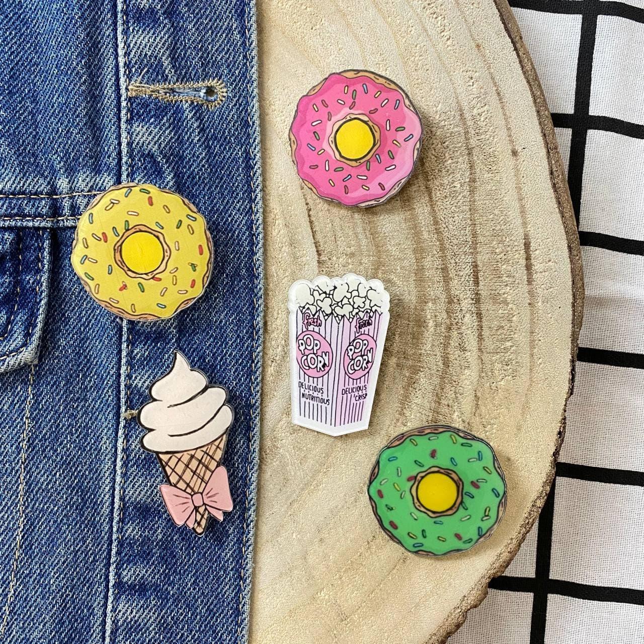 Значки на рюкзаки Сладости
