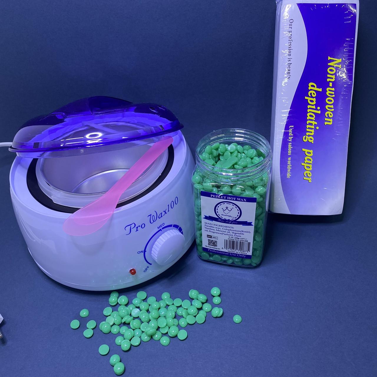 Набір для депіляції Pro-wax 100 +250г воску зелений