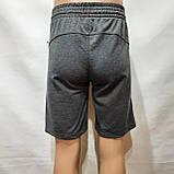 Шорти чоловічі до коліна трикотажні х/б в стилі Nike Туреччина темно-сірі, фото 6
