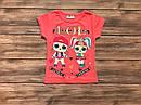 Детская футболка ЛОЛ для девочки на 1-8 лет, фото 3