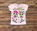 Дитяча футболка ЛОЛ для дівчинки на 1-8 років, фото 2