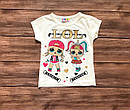 Дитяча футболка ЛОЛ для дівчинки на 1-8 років, фото 6