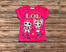 Дитяча футболка ЛОЛ для дівчинки на 1-8 років, фото 5