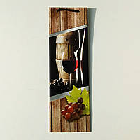 Пакет під пляшку вина , колаж  , 35.5×11×8.5 см.