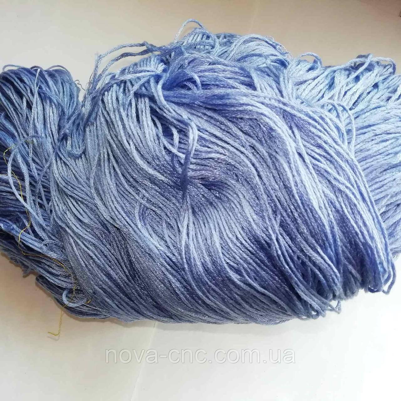 Нитки  Мулине Цвет голубой с сероватым оттенком упаковка 248 грамм