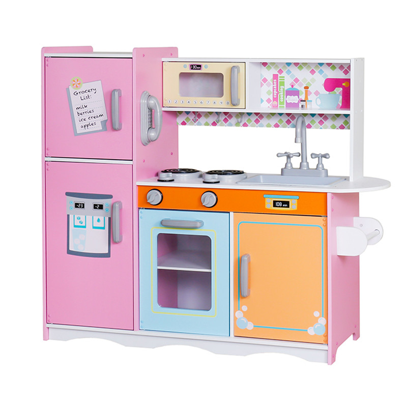 Детская деревянная кухня Lolly Kids LK668+ аксесуары (9391)