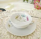 Вінтажна порцеляновий чайна двійка, чашка і блюдце, Limoges porcelain, Франція, фото 2