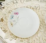 Вінтажна порцеляновий чайна двійка, чашка і блюдце, Limoges porcelain, Франція, фото 4