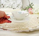 Вінтажна порцеляновий чайна двійка, чашка і блюдце, Limoges porcelain, Франція, фото 6