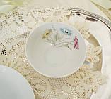 Вінтажна порцеляновий чайна двійка, чашка і блюдце, Limoges porcelain, Франція, фото 5