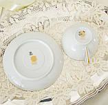 Вінтажна порцеляновий чайна двійка, чашка і блюдце, Limoges porcelain, Франція, фото 7