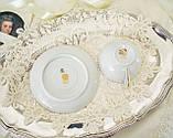 Вінтажна порцеляновий чайна двійка, чашка і блюдце, Limoges porcelain, Франція, фото 8