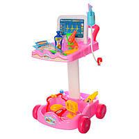 Детский игровой набор доктор 606-1-5 ( розовый)