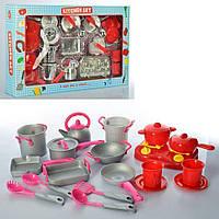 Набор игрушечной посуды с плитой Bambi LN855B-C