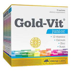 Витамины и минералы Olimp Gold Vit Junior 15 пакетиков, малина